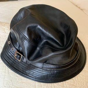 Vintage Leather Coach Bucket Hat